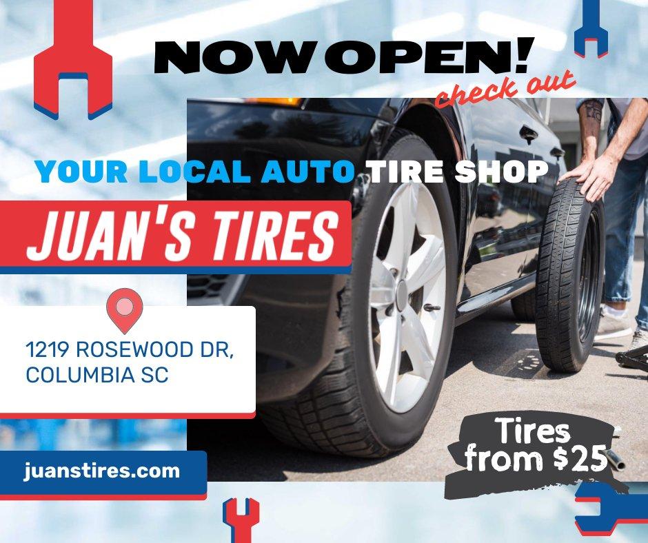 Juan's Tires Now Open